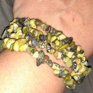 Genuine Serpentine 4 Layered Stretch Bracelet